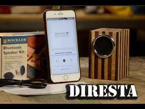 Speakers - DiResta Rockler 005  Make a mini wireless speaker that connects to any Bluetooth®️ device.