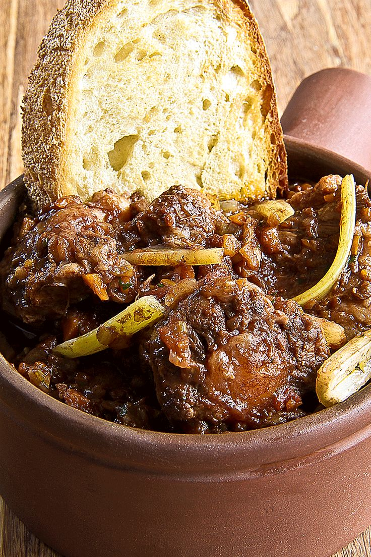 Traditional roman oxtail