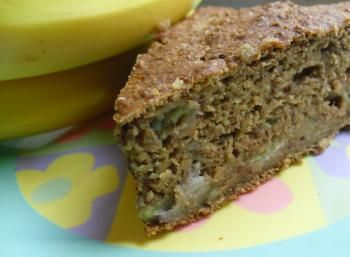 Applesauce and Banana Cake - safe for baby! No egg, no sugar, no cow's milk. Sweet!!!