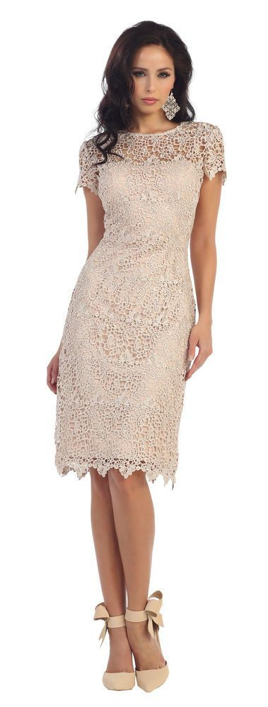 Details about Chiffon Mother of the Bride Dress Plus Size Short Sleeve Evening Gowns