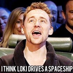 Tom Hiddleston.gif - Seriously can you imagine Loki driving s spaceship? That would be so funny...