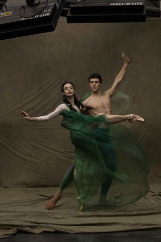 Alessandra Ferri and Roberto Bolle. The way the green fabric flows is