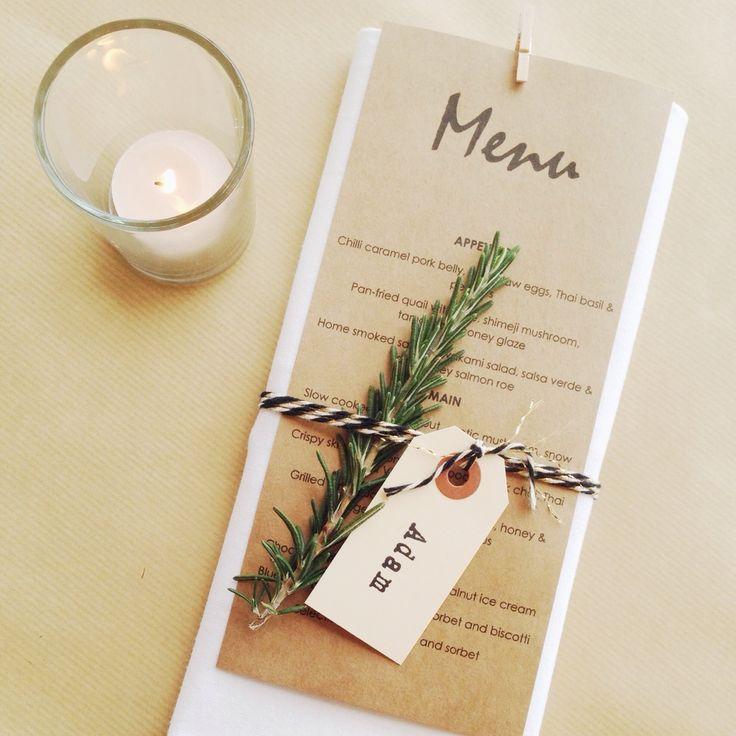 The Little Design Corner | modern table setting | DIY wedding