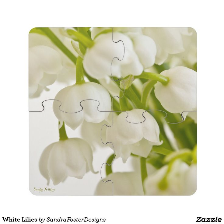 White Lilies Drink Coaster Puzzle
