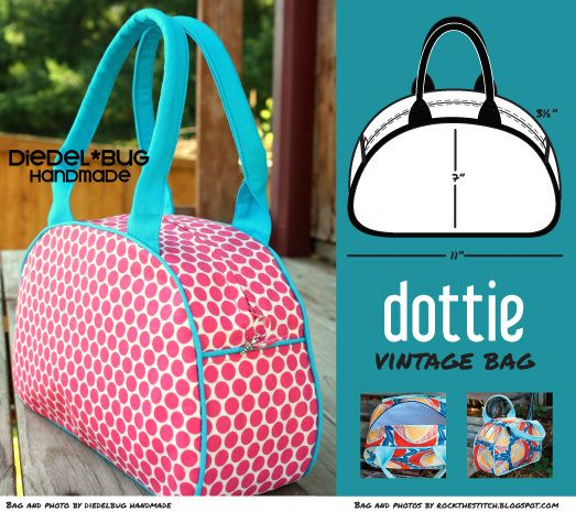Paco Bean Dottie Vintage Bag| Sewing Pattern | YouCanMakeThis.com