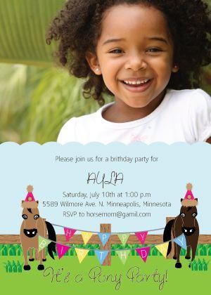 Unicorn Birthday Invitation as adorable invitation ideas