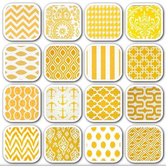 ♥ Splendida Premier stampe Throw Pillow coprire ♥    Questo è per 1 - Premier stampe giallo cuscino coprire. Questo è solo per 1 copricuscino e