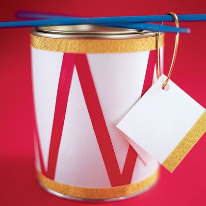 Drum container - cute to hold a kid's gift