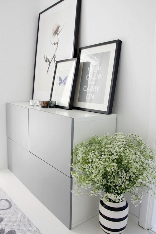 IKEA Besta hacks | Interior styling — The Little Design Corner Flower in pot to soften edges
