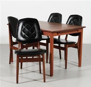 Lauritz.com - Møbler - Gustav Bahus, matgrupp, bord med stolar (4) Denna vara har satts till omförsäljning under nytt varunummer2083186 - SE, Örebro, Aspholmen