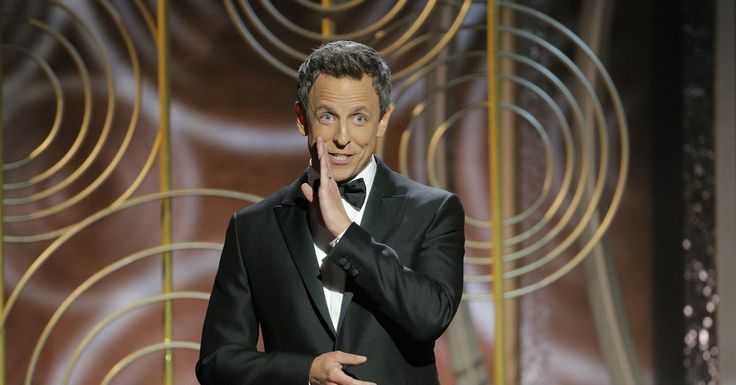 Golden Globes host Seth Meyers nailed his monologue by letting others tell his best jokes