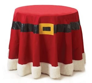 Santa Belt Tablecloth - Perfect for the Christmas Party!