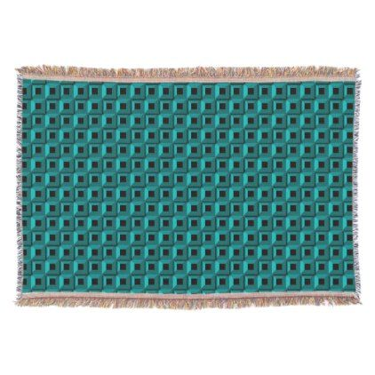 Barnacles in Turquoise Throw Blanket - home gifts ideas decor special unique custom individual customized individualized