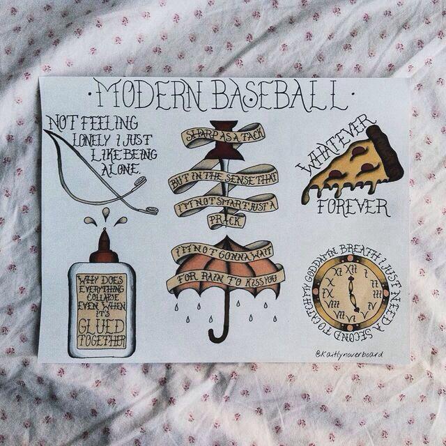 Modern Baseball Lyric Tattoos Punk Tattoo Baseball Tattoos