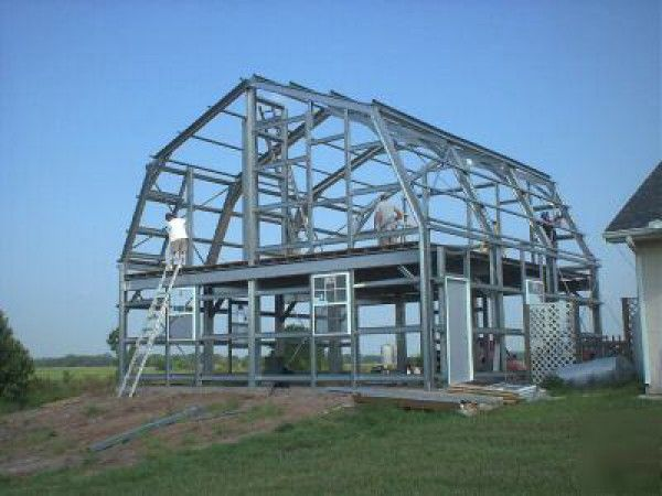 17 best images about garage on pinterest shop plans for Gambrel roof metal building