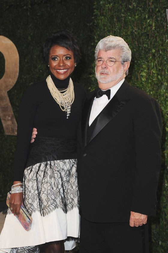 Director George Lucas and Mellody Hobson
