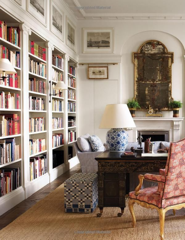 Sconces on bookcases