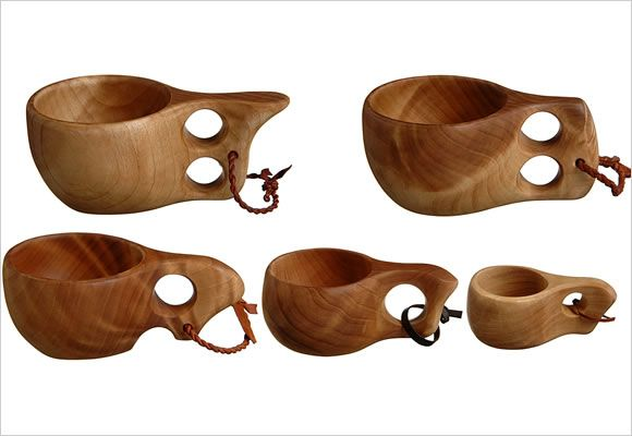 Recreated old English wooden carved mugs called noggins  (Image from http://www.bushcrafttuk.com/forum.php)