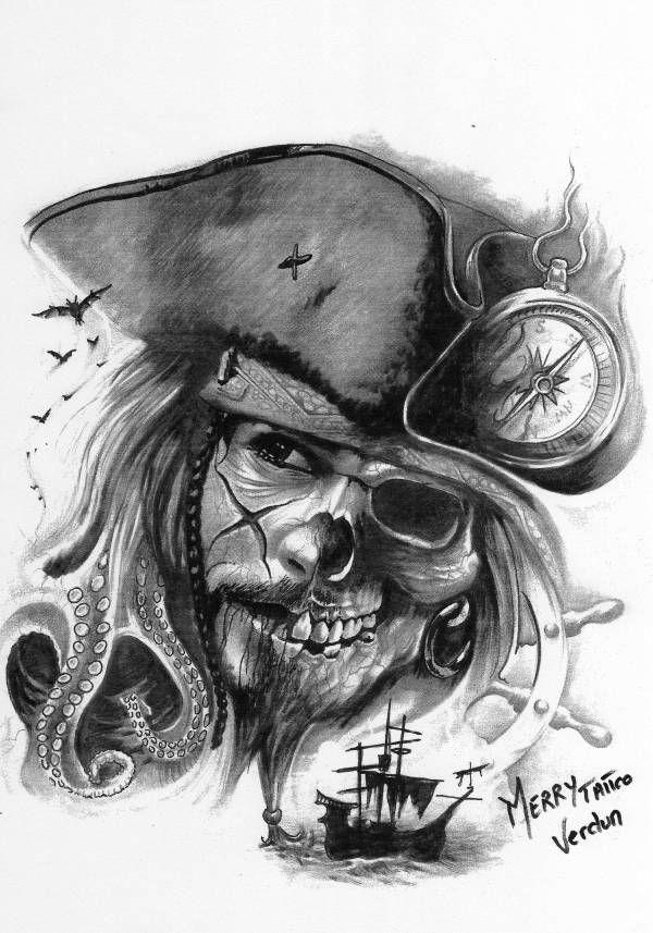 best 25 pirate tattoo ideas on pinterest. Black Bedroom Furniture Sets. Home Design Ideas