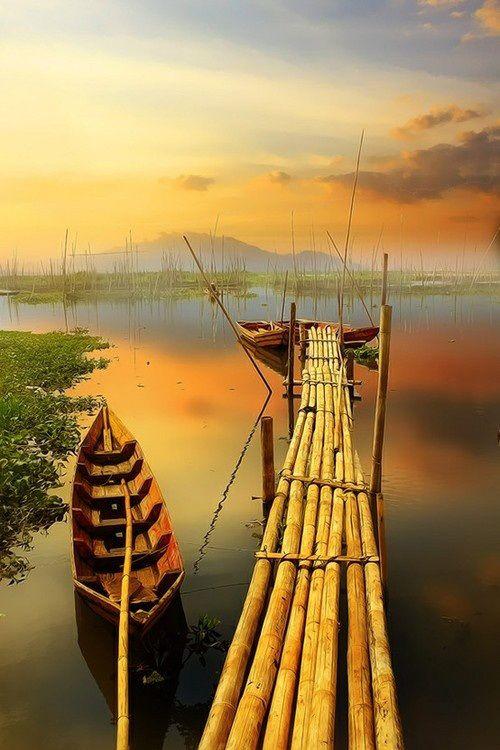 Bamboo Dock, Indonesia