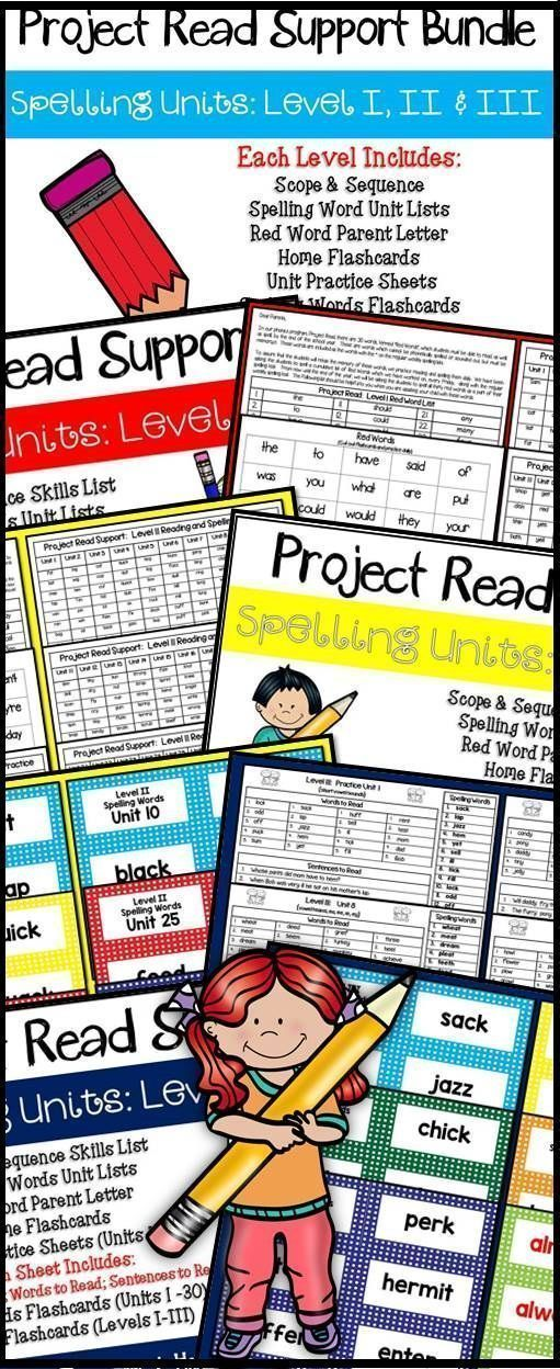 Project Read Support Bundle Spelling Units Levels I II