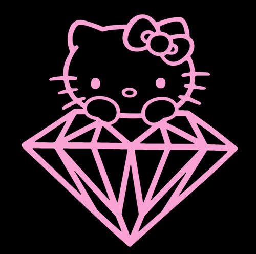 Hello Kitty Sticker Peeping Hello Kitty Diamond