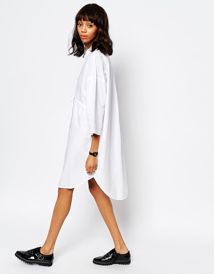 Image 4 of Monki Shirt Dress With Tie Waist