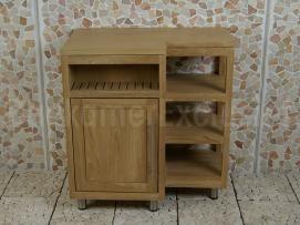Gezien bij BadkamerExclusief.nl Badmeubel Kerinci Cabinet Teakhout 75 cm, deur links