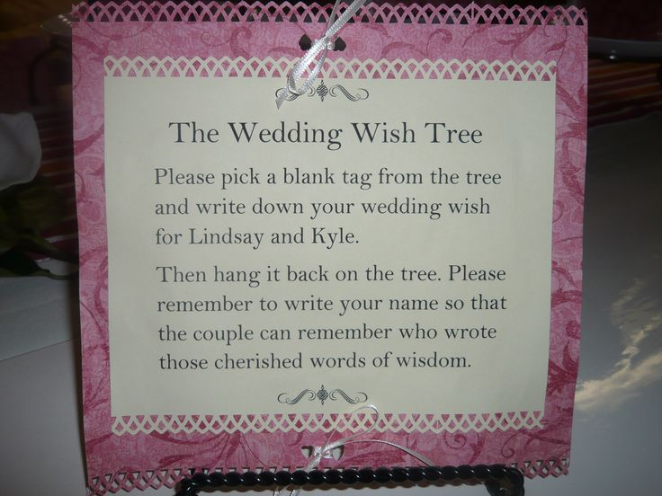 Wedding Money Tree Wording | Ginas Gift Blog » Blog ...