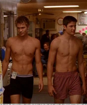 Chad Michael Murray and James Lafferty