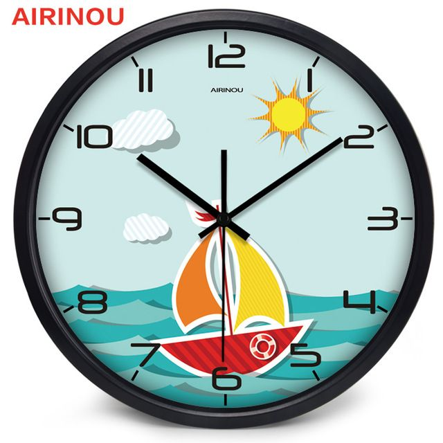 Fair price Airinou Sailing To The Sea Cartoon Kid room, Study Room Lovely Gift Quartz Wall Clock Super Quiet just only $24.50 - 35.70 with free shipping worldwide  #clocks Plese click on picture to see our special price for you