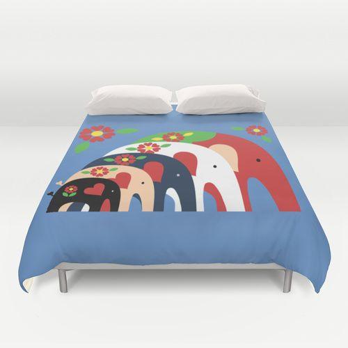 Elephant Duvet Cover | Dala Elephants Duvet Cover
