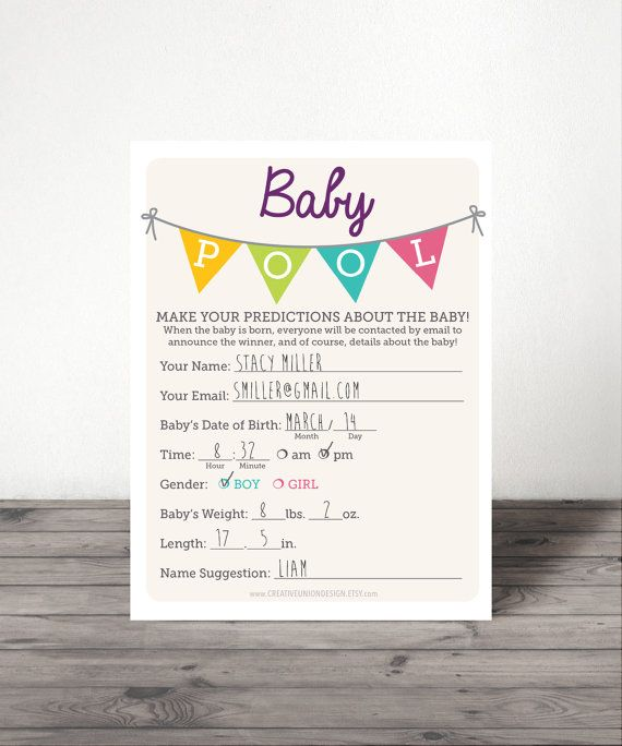 Instant Download  Baby Pool  Baby Shower by CreativeUnionDesign