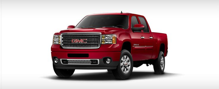 Red GMC Sierra truck