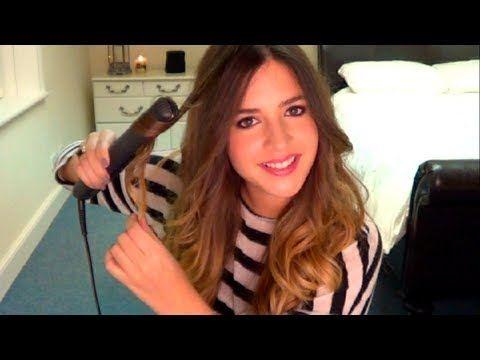 como hacer rizos anchos con planchas muy facil - YouTube