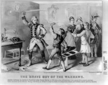 1779. Jackson and his brother Robert were captured by the British and held as prisoners; they nearly starved to death in captivity. When Jackson refused to clean the boots of a British officer, the officer slashed at the youth with a sword, leaving Jackson with scars on his left hand and head, as well as an intense hatred for the British