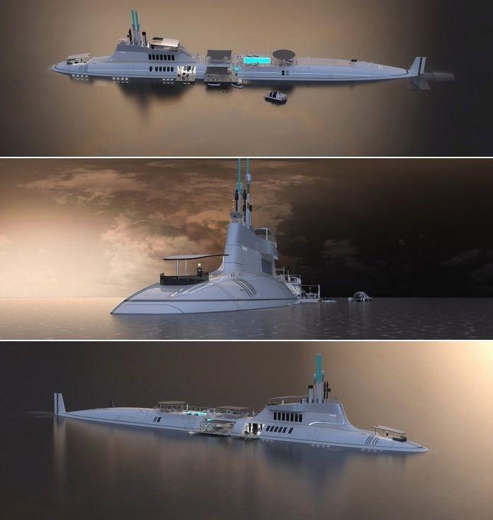 Роскошная яхта-субмарина Migaloo Private Submersible Yacht
