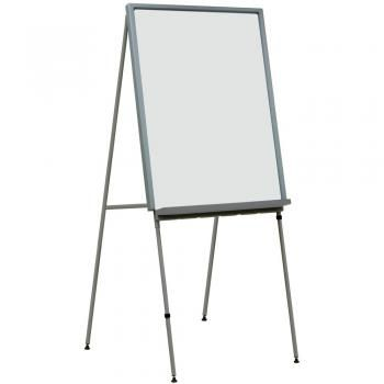 This dry erase whiteboard stand is lightweight for portability.