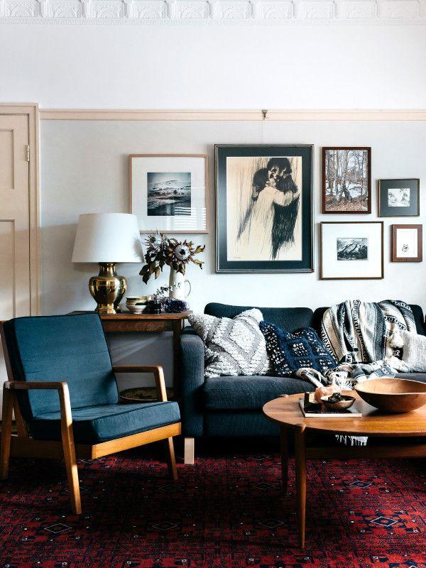 Appartement avec moulures, style vintage et tapis ethnique - FrenchyFancy
