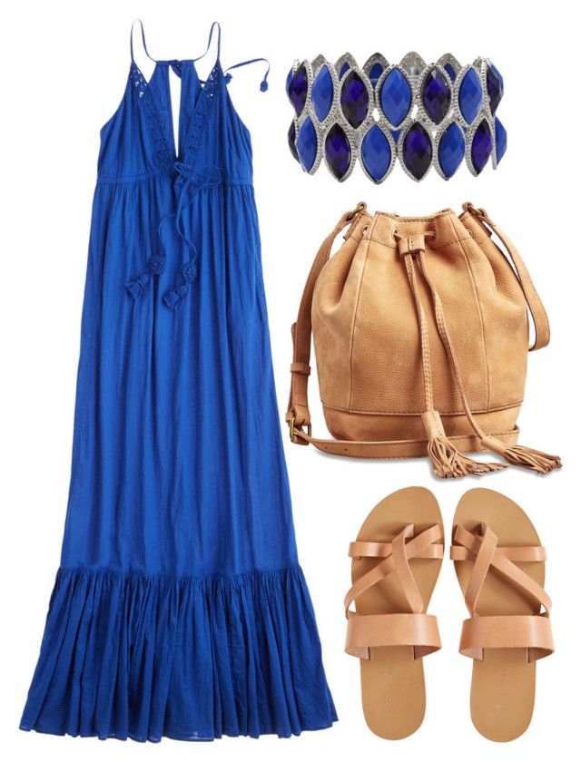 Picnic Attire. by ellary-branden on Polyvore featuring Calypso St. Barth, KYMA, Lucky Brand and M&Co
