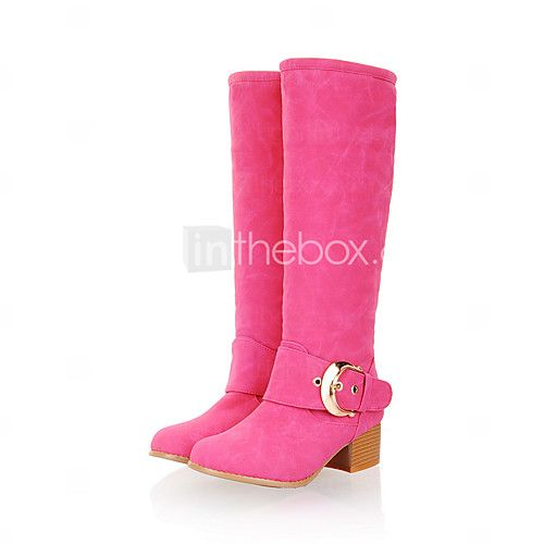 Women's Boots Spring / Fall / Winter Fashion Boots Leatherette / Casual Chunky Heel Others Blue / Yellow / Green / Red - USD $33.29 ! HOT Product! A hot product at an incredible low price is now on sale! Come check it out along with other items like this. Get great discounts, earn Rewards and much more each time you shop with us!