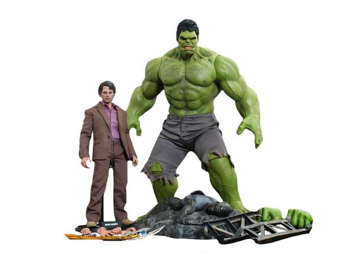 1/6 Scale Movie Masterpiece The Avengers Bruce Banner & Hulk Two Pack - The Avengers (2012) Figures