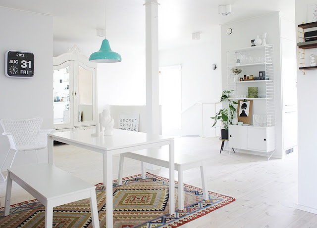 LOVE this home interiorWeekdaycarnival, Ikea Ideas, Dining Room, Home Interiors, Cleaning Line, Weekday Carnivals, White, Mint Decor, Blog