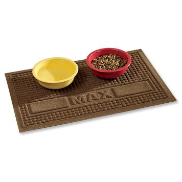 Just Found This Dog Food Mat Personalized Water Trapper