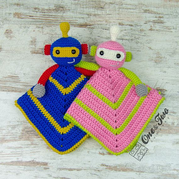 Robby the Robot Lovey / Security Blanket  PDF Crochet Pattern
