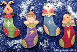 #610  Winter Stocking Ornaments (PATTERN PACKET) by Renee Mullins
