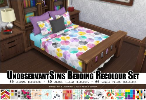 60 Bedding Colors With Matching Pillow Sets Sims 4