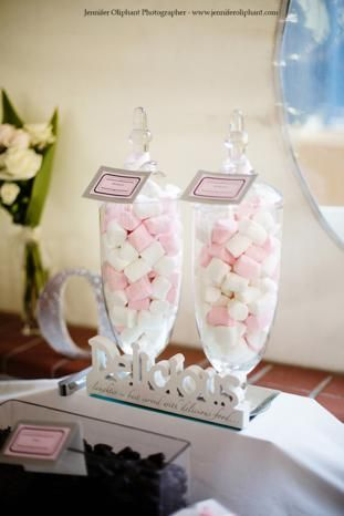 Delicious Marshmallow Jars for a Lolly Buffet www.coasttocountryweddingsandevents.com.au