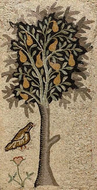 Byzantine Mosaic Panel    5th century AD would make a nice rug. I really like this design and it would translate well for invitations..