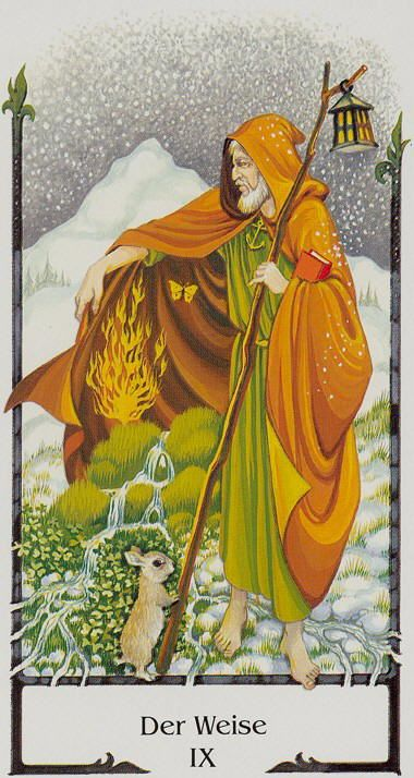 The Wise One (The Hermit) - Tarot of the Old Path